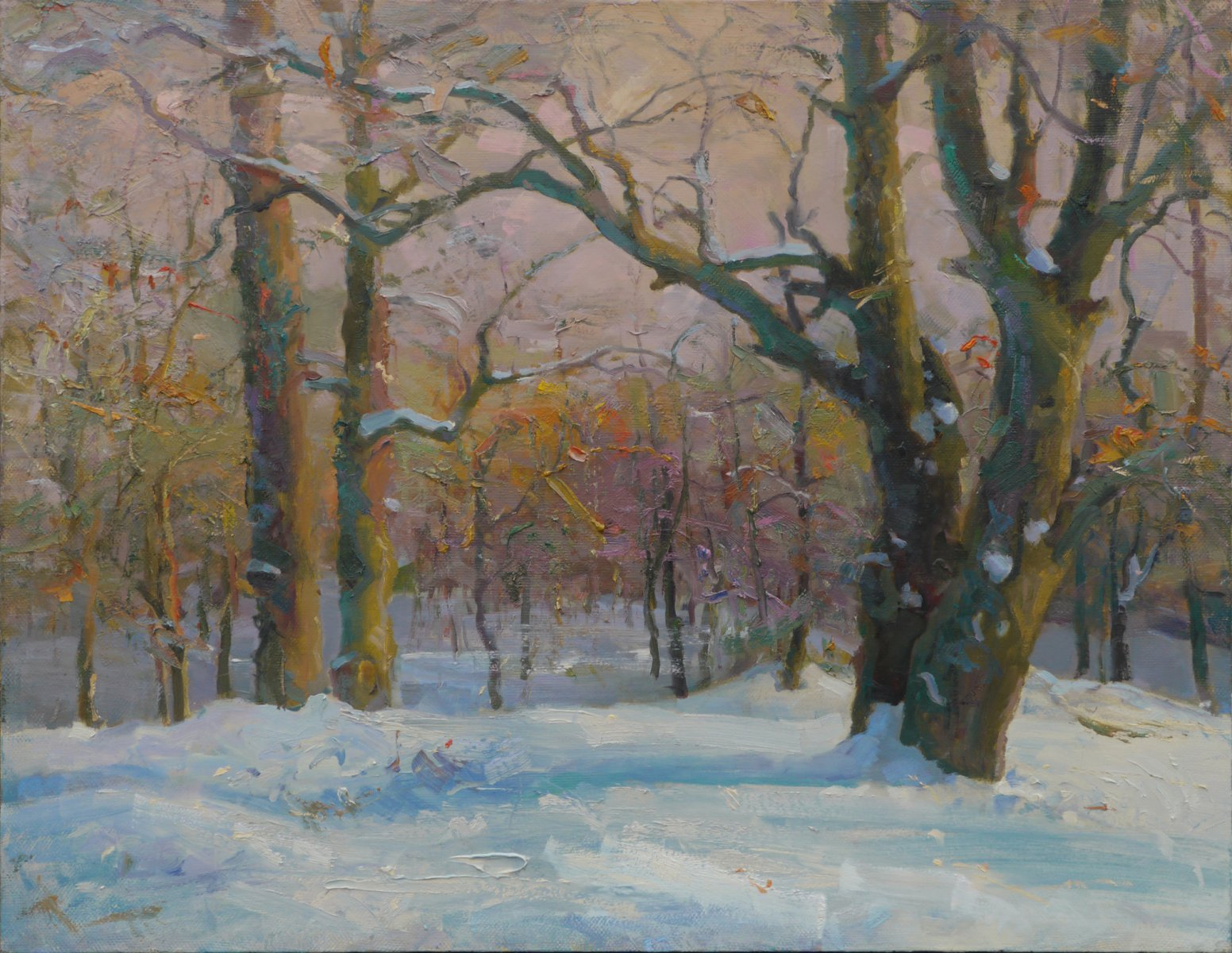 Winter in the wood - Victor Onyshchenko