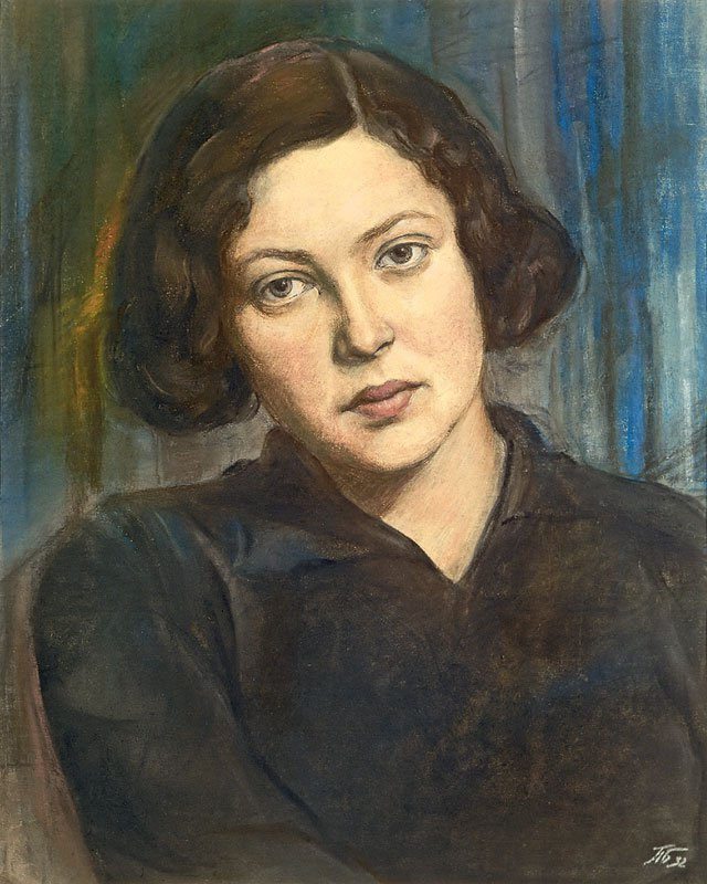 Poitr Belousov (1912-1989). Portrait of young woman.