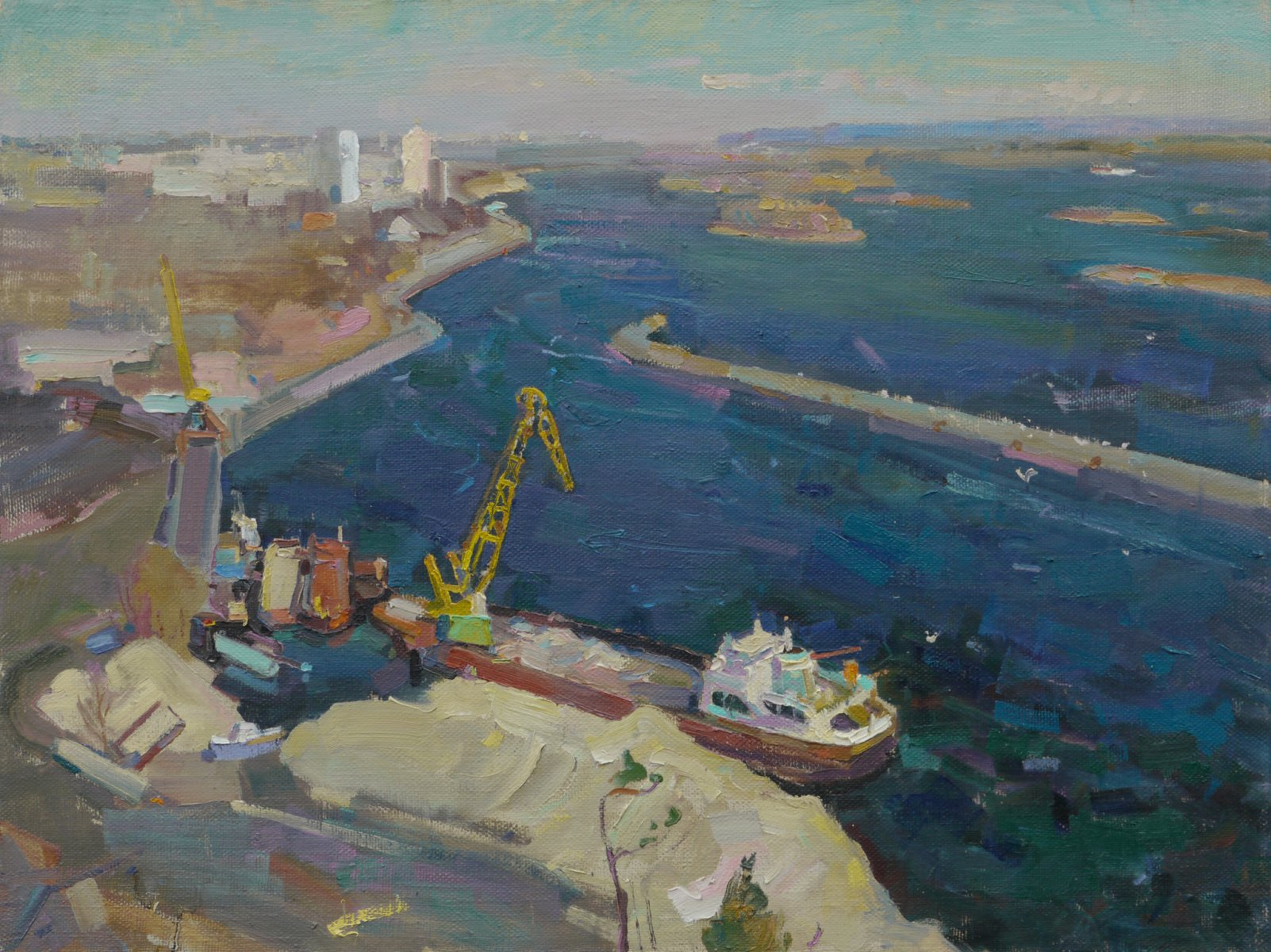 View from Trypillya to Ukrainka - Victor Onyshchenko