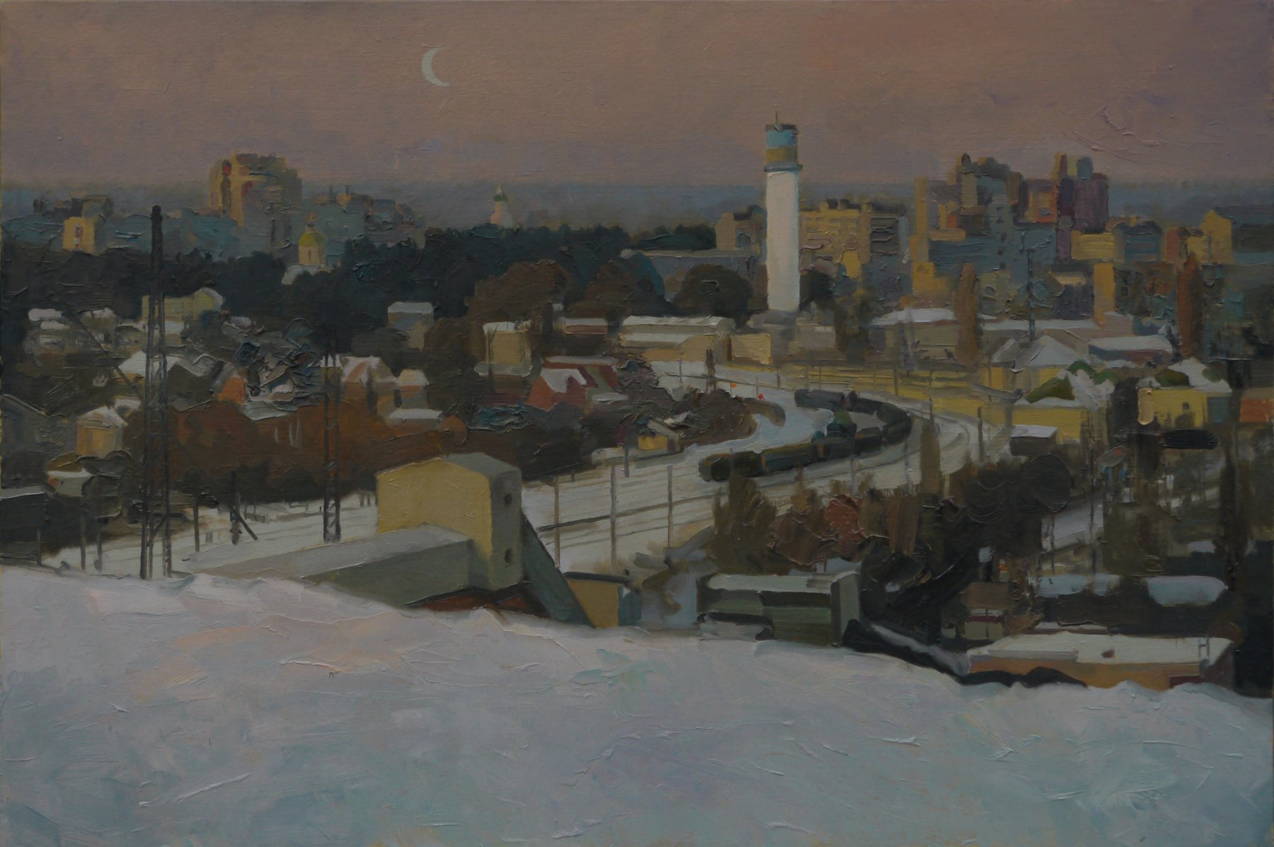 Evening in Ukrainka - Victor Onyshchenko