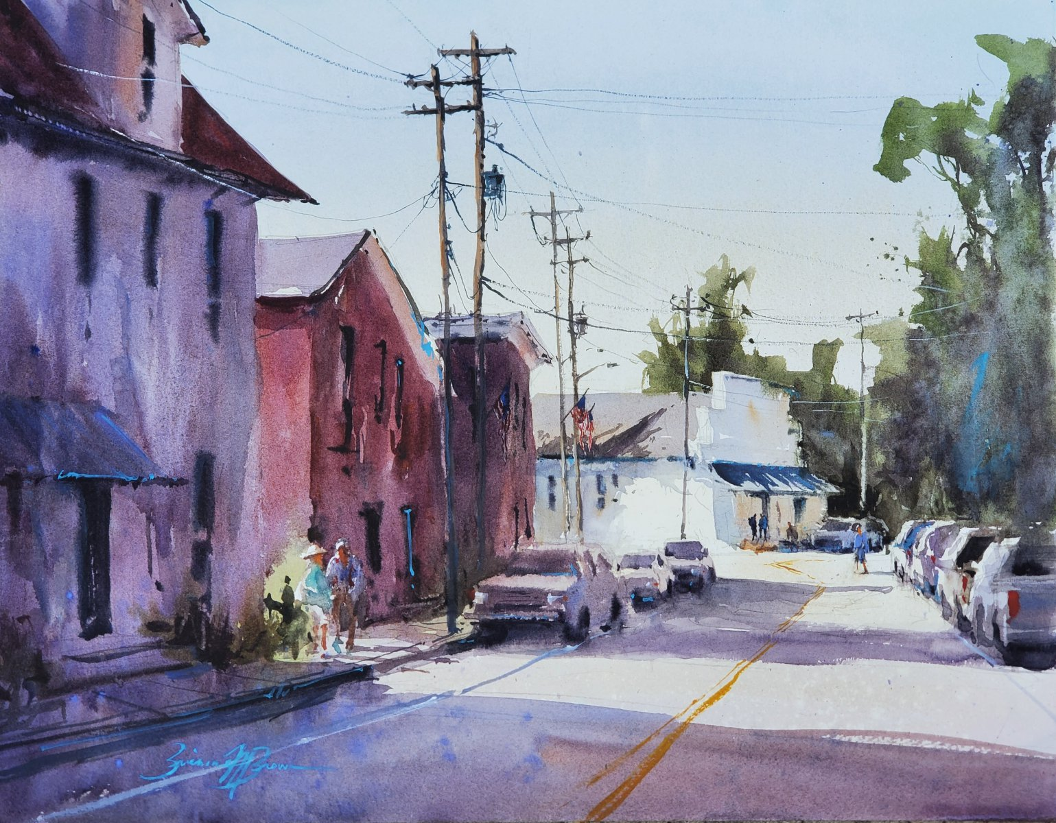 Main Street Morning - Brienne M Brown