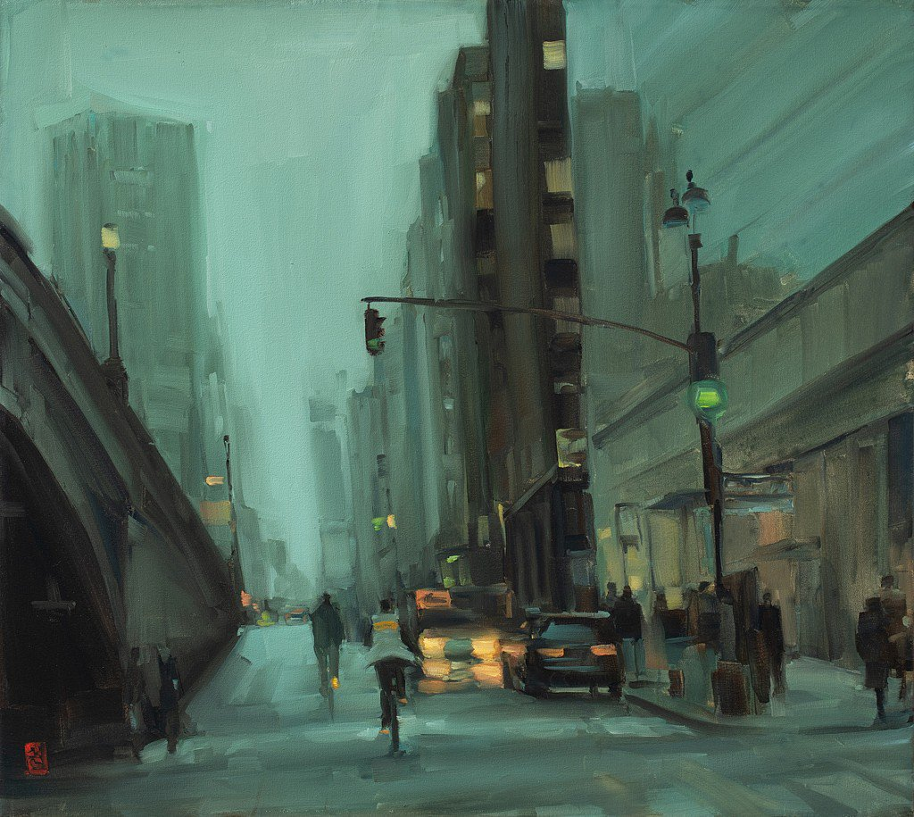 City at dusk - Sasha Hartslief