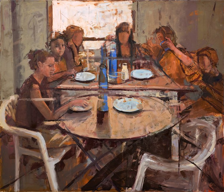 Children around the Table - Anne-Françoise Ben-Or