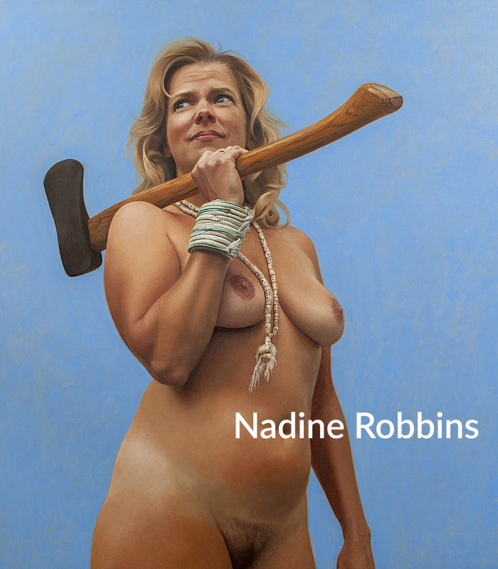 Alluring Nudes, Lush Portraits, and Erotic Oysters - Paintings by Nadine Robbins